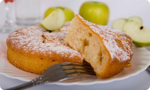 Диетический пирог из яблок