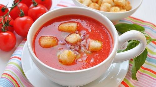 Готовим холодный томатный крем-суп