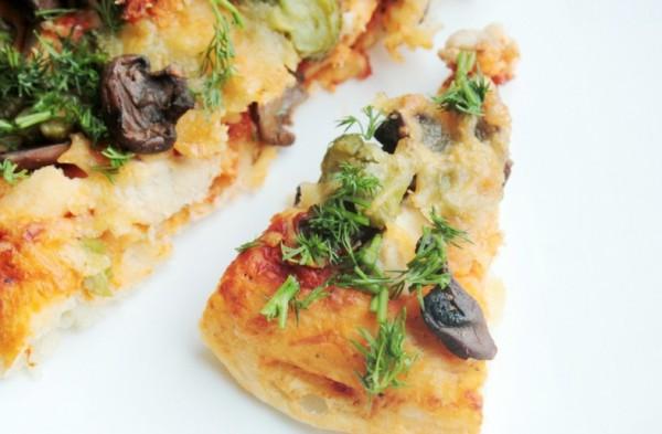 Как приготовить пиццу с курицей и грибами