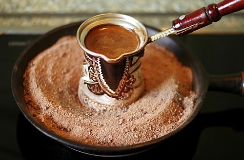 Как варить кофе на песке